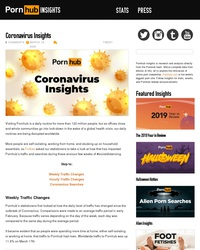 Stats Pornhub pendant le Coronavirus