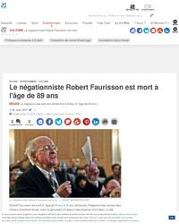 Robert Faurisson est mort à l'âge de 89.