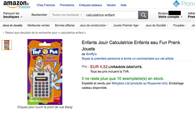 En vente sur amazon :