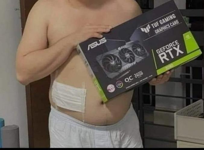 Une GeForce RTX3090 (le plus haut de gamme de chez Nvidia)