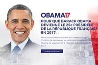 Comme c'est le Grand Désert chez nous, certains verraient bien Obama à l'Elysée