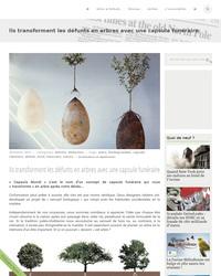 La capsule qui transforme les défunts en arbre