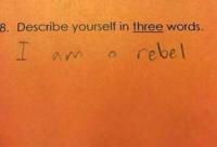 Jeune rebelle