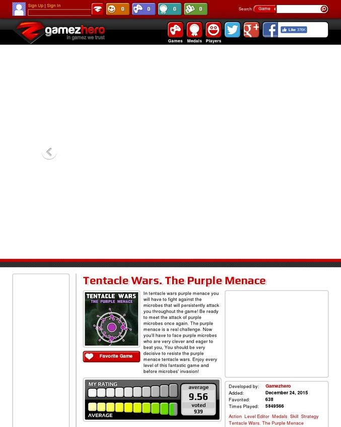 """La suite du jeu """"Tentacle Wars"""". Capturez les microbes ennemis avec vos tentacules pour survivre."""