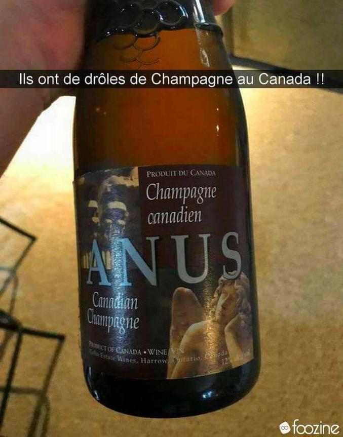 mhhh mais dites moi si c'est canadien , cela ne vient pas de la région de champagne donc l'appellation est fausse, c'est vraisemblablement  une boisson de trou duc' ^^