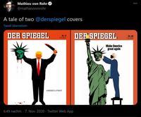 2 couvertures de Der Spiegel à un peu plus de 2 ans d'écart
