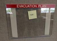 Consigne d'évacuation-incendie très succinte :
