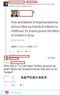 Une petite Syrienne sur Twitter
