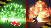 Explosions et Feu d'artifice à l'horizontale