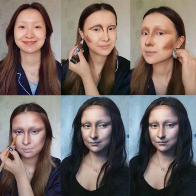 Un tuto maquillage de la Joconde.