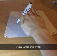 Comment les Allemands écrivent