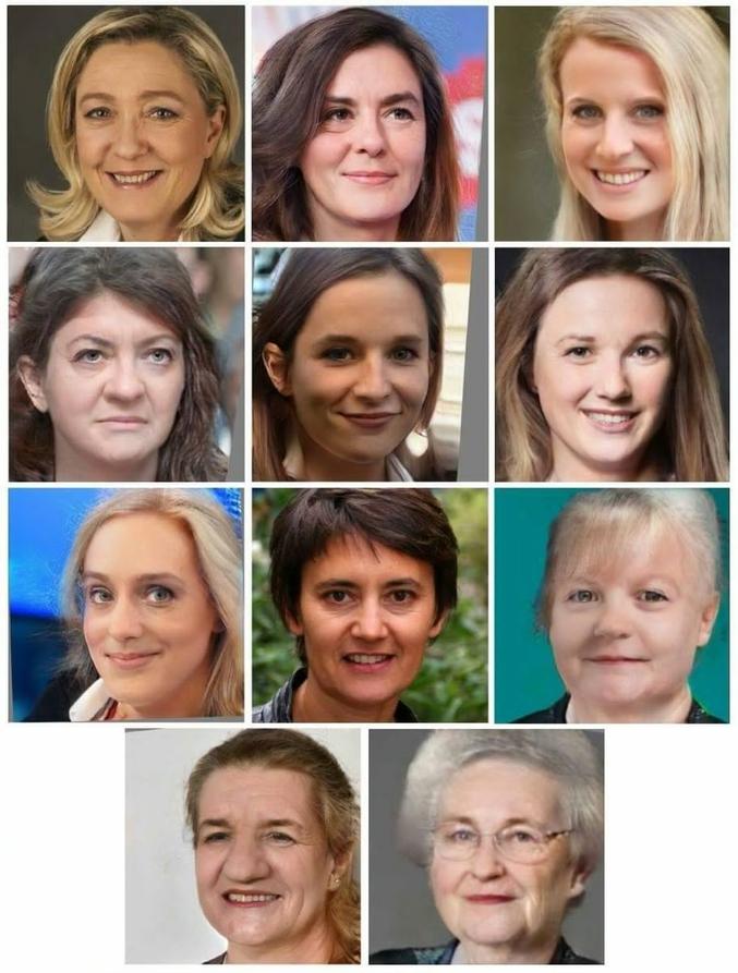 Quelle tête auraient les candidats s ils étaient des femme