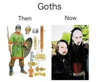 Les goths, avant et maintenant