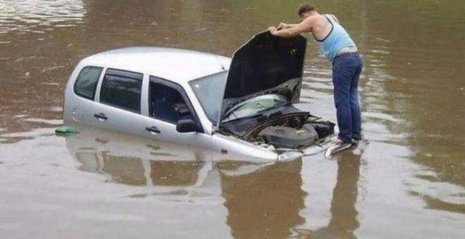 """""""Je crois que le moteur est noyé""""."""