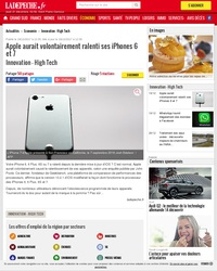 Apple accusé de ralentir volontairement ses iPhone