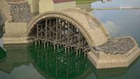 Construction du pont Charles, à Prague