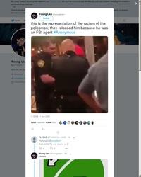 Des policiers arrêtent un homme noir