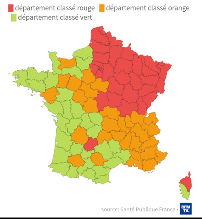Avec ça, on en sait beaucoup plus ! (source :https://www.bfmtv.com/sante/carte-du-deconfinement-rouge-orange-ou-vert-quelle-est-la-couleur-de-votre-departement-1905084.html)