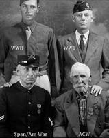 Vétérans américains d'une même ville, différentes guerres