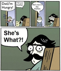 Maman n'est pas dans la cuisine
