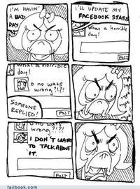 Un mauvais jour sur Facebook
