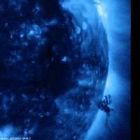 Une tornade de plasma solaire.