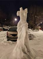 bonne femme de neige