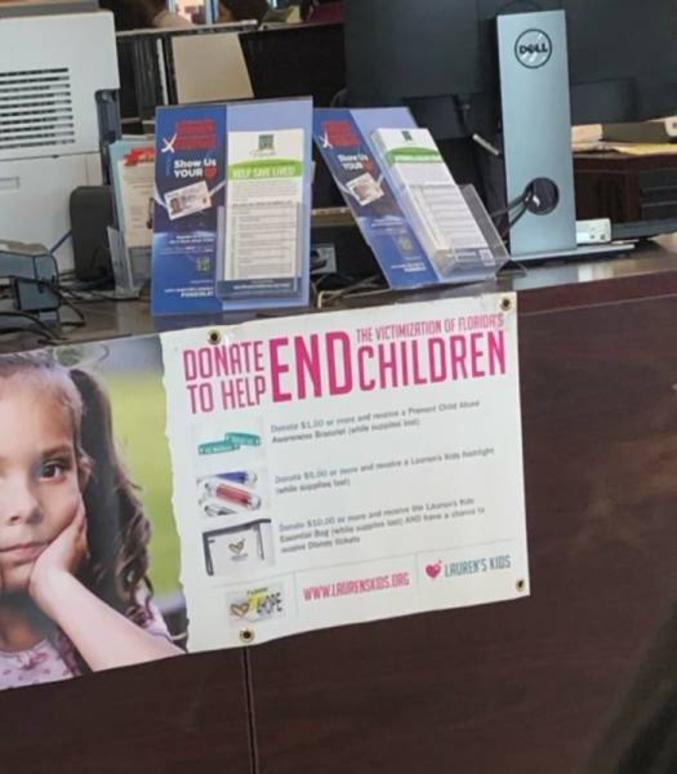 à en finir avec les gamins !  Ou pour aider à lutter contre la maltraitance des enfants en Floride, ça dépend comment vous le lisez...