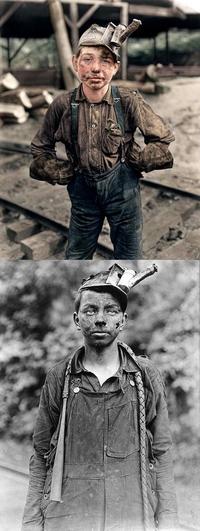 Un jeune mineur américain de 11 ans vers 1900