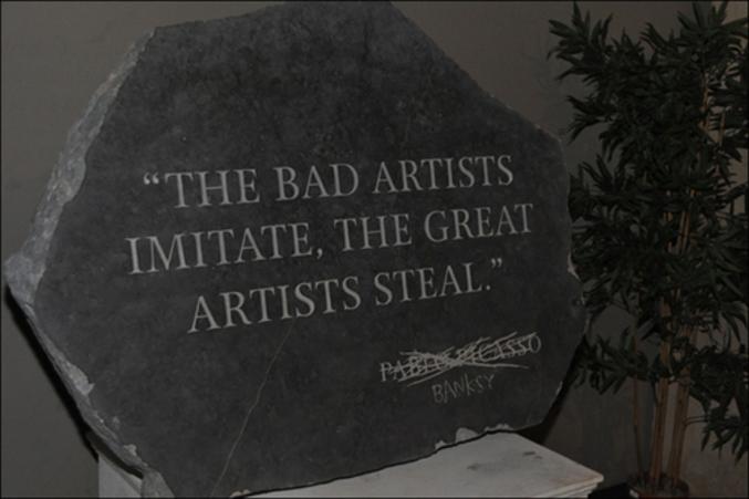 Les grands artistes volent  ?P?i?c?a?s?s?o?  Bansky