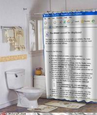 Rideau de douche geek