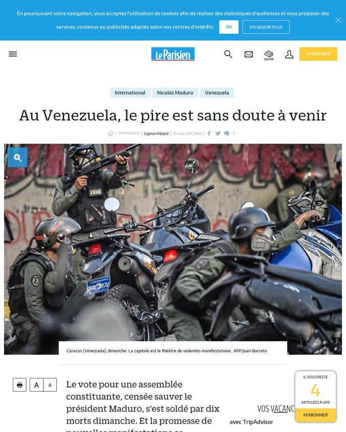 Le vote pour une assemblée constituante, censée sauver le président Maduro, s'est soldé par dix morts dimanche. Et la promesse de nouvelles manifestations ce mercredi.