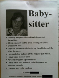 Baby-sitter qualifiée