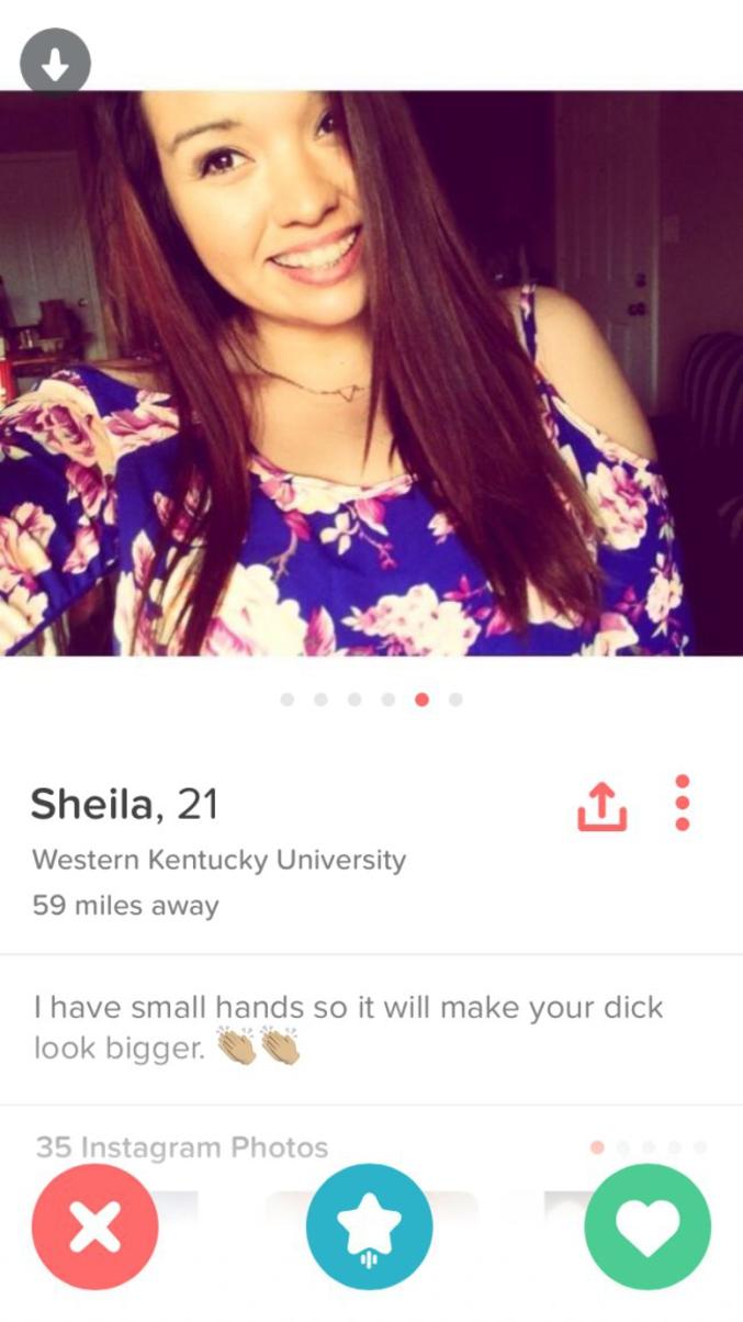 """""""J'ai des petites mains cela te donnera l'impression d'un gros pénis"""""""