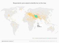 Kan tu demandes aux Américains de situer l'Iran sur une carte