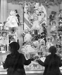 Vitrine de Noël dans les années 50