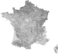La carte des 36'000 communes en France