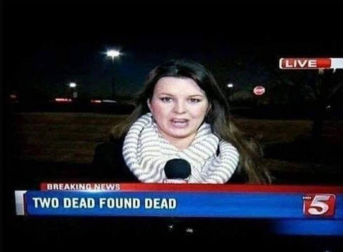 2 morts trouvés morts, captain Obvious n'aurait pas fait mieux !