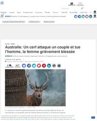 Un animal tue quelqu'un dans un pays étranger