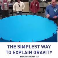 Explication visuelle de la gravité