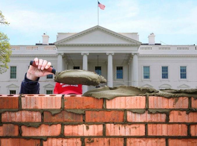 Donald met la main au dernier pan du mur. Sans main d'œuvre ni argent mexicain !!