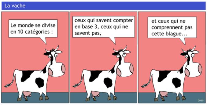 Une blague vache.