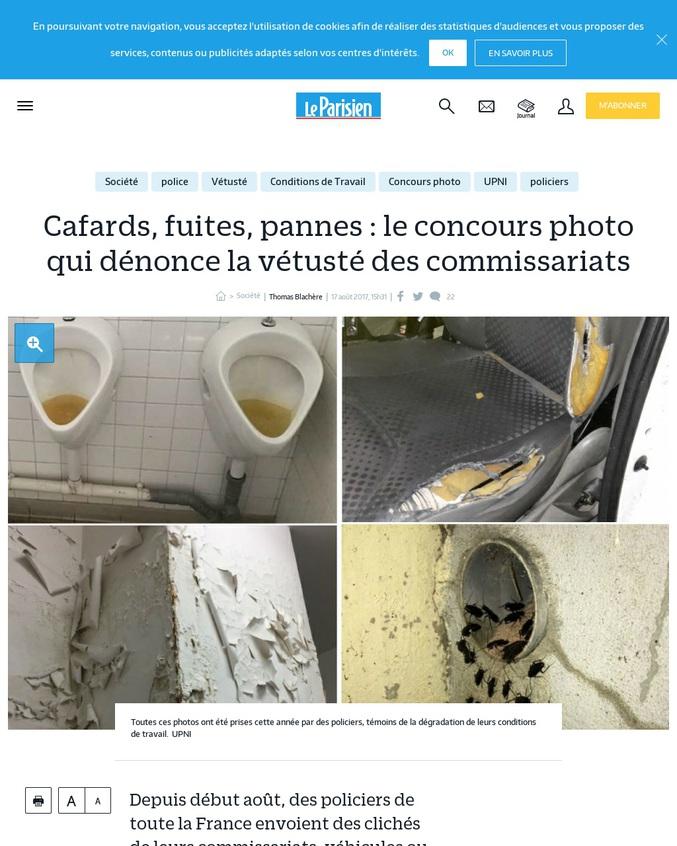 Depuis début août, des policiers de toute la France envoient des clichés de leurs commissariats, véhicules ou équipements vétustes. Dans l'espoir d'alerter leur hiérarchie et le gouvernement.