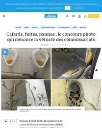 Cafards, fuites, pannes : le concours photo qui dénonce la vétusté des commissariats