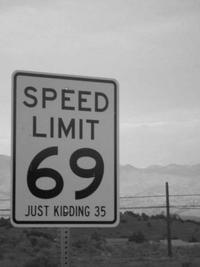Vitesse limitée à 69 miles/heure