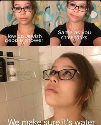 Comment les Juifs prennent-ils leur douche ?