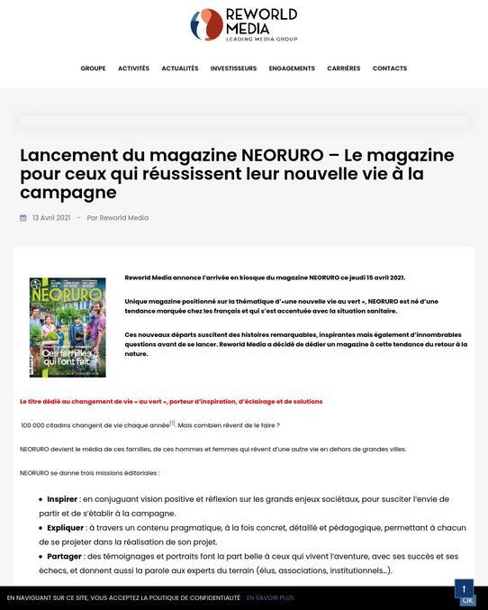"""Ce nouveau magazine est fait pour aider les parisiens voulant habiter dans les """"territoires"""" (est-ce moins péjoratif que """"province""""?). Comment comprendre l'accent de cet agriculteur? Quel est donc cet animal à corne? Cette carotte est -elle vénéneuse ? Pourquoi le lait de mon taureau est si épais ?"""