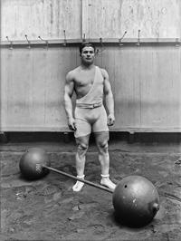 Ernest Cadine, un haltérophile Français  (1920)
