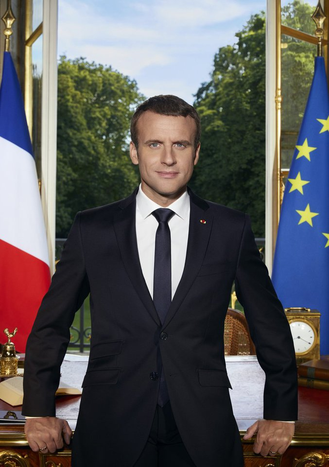 Le portrait officiel d'Emmanuel Macron.