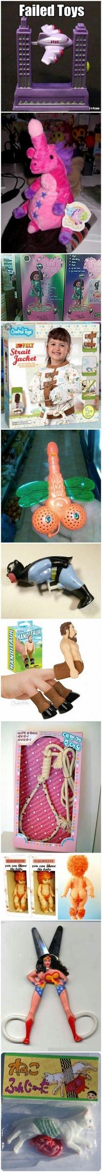 Des jouets ratés